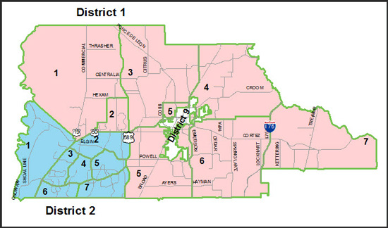 Districts and Zones